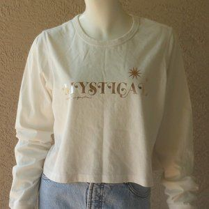 MYSTICAL Long Sleeve Cropped Top